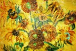 Sun Flowers. Perry's interpretation of Van Gogh's painting.