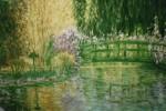 Interpretation Monets Garden Giverny France - ( from a Calender photo )