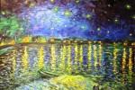 Starry Starry Night. Perry's interpretation of Van Gogh's painting.