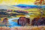 After Streeton. ( Perception painting of Australian Artist Arthur Steeton's work )